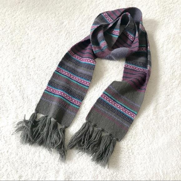 Long Knit Striped Purple Blue Thick Scarf Poshmark